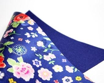 Flower Pattern Felt, Hanbok Felt, Floral Pattern Felt, Craft Felt