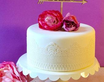Wedding Cake Topper - Love Arrow