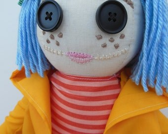 """Made to Order - 18"""" Coraline Doll OOAK"""