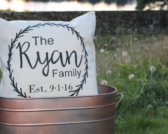 17x17//Custom Family Pillow Cover//Free Shipping