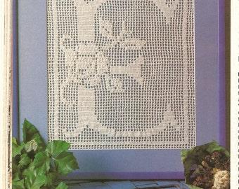 Crochet Pattern - Vintage Filet Crochet Pattern - Alphabet Crochet Pattern - 24 Letters Crochet Pattern - Swedish Vintage Crochet Pattern
