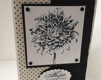 "Stampin Up handmade card ""Hope"""