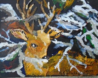 White Tailed Deer Acrylic Texture