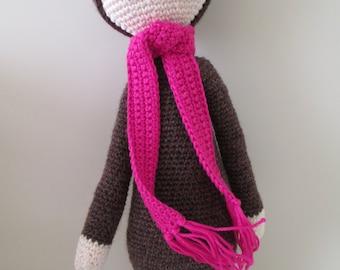 Bear Bina - crochet, stuffed animal, toys, baby shower, gift