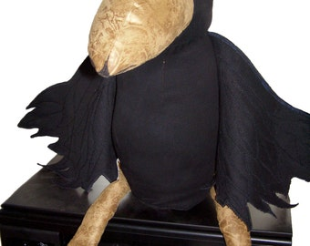 Raven Plush Toy   Customized Stuffed Animal