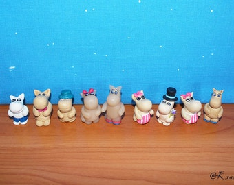 Moomin Troll Miniature - Moomin collectible Toy - Moomintrolls - Moomins - Moominpappa, Moominmamma - gift for kids
