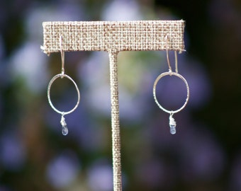 Iolite Drops on Sterling Silver