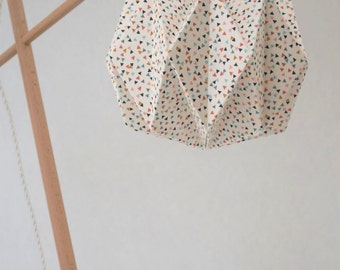 Light fabric Origami mini triangles. Replacement lamp for bedroom, living room or office