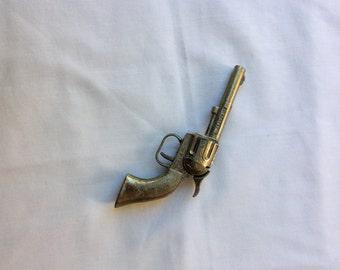 Vintage Daisy Pal Pioneer Toy Gun ~ Die Cast ~ Cap Gun Single Shot ~ Chrome Finish ~ 1950's ~ Made in USA