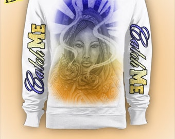 LoRosa Hoodie - BlueOrange By: Catch Me Clothing And Fashions