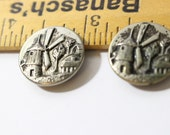 Metal Buttons, Windmill Holland Relief