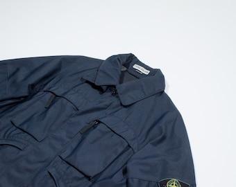 STONE ISLAND -  Blue nylon jacket