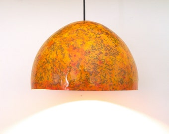 Amber - paper pulp  hanging / pendant lamp