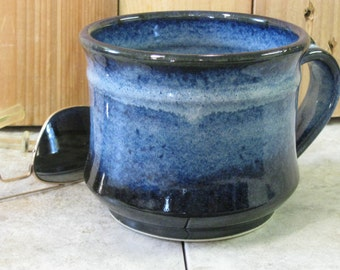 Mug, Soup Mug, Blue Mug, cereal bowl, made in Montana, Hand made, Pottery, Stoneware, dishes, black mug, large coffee cup