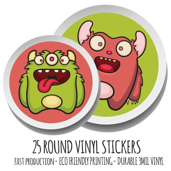 Custom Stickers Printed Stickers Custom Labels Round Labels - Custom stickers eco friendly