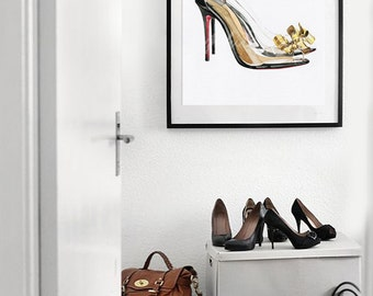 High heels (01) - water color art prints
