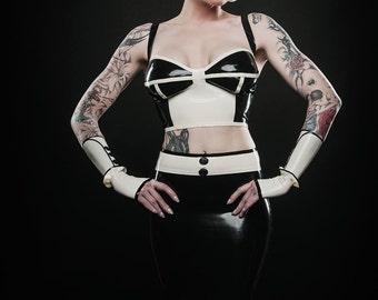 CL design LaTeX corsets top corset bra strapless