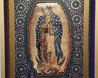 Our Lady of Guadalupe Virgin. Folk Art