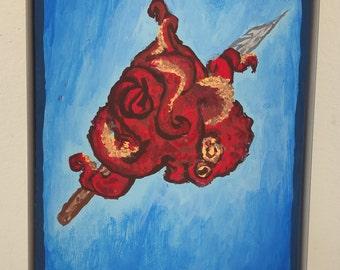 Octopus Heart Flask