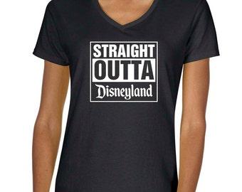 Straight Outta Disneyland Vneck Tshirt
