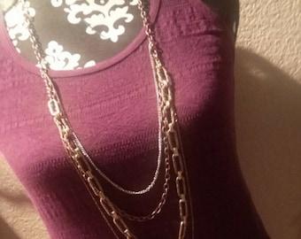 multi metals chain necklace