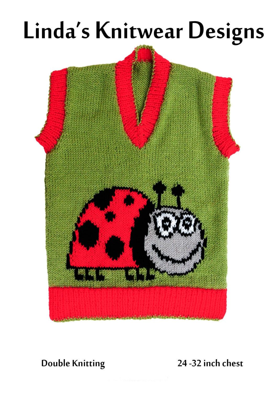 Knitting Ladybug Ladybird Headband : Children s ladybug ladybird motif knitting pattern sizes
