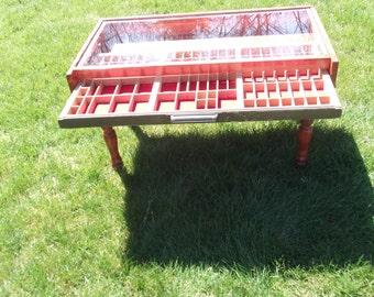 Letterpress Type Case Coffee Table