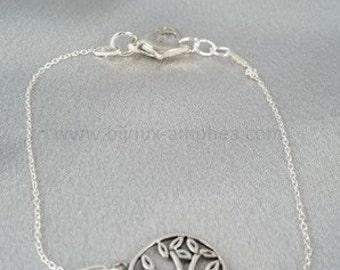 "Silver ""Tree of life"" end Amphea bracelet"