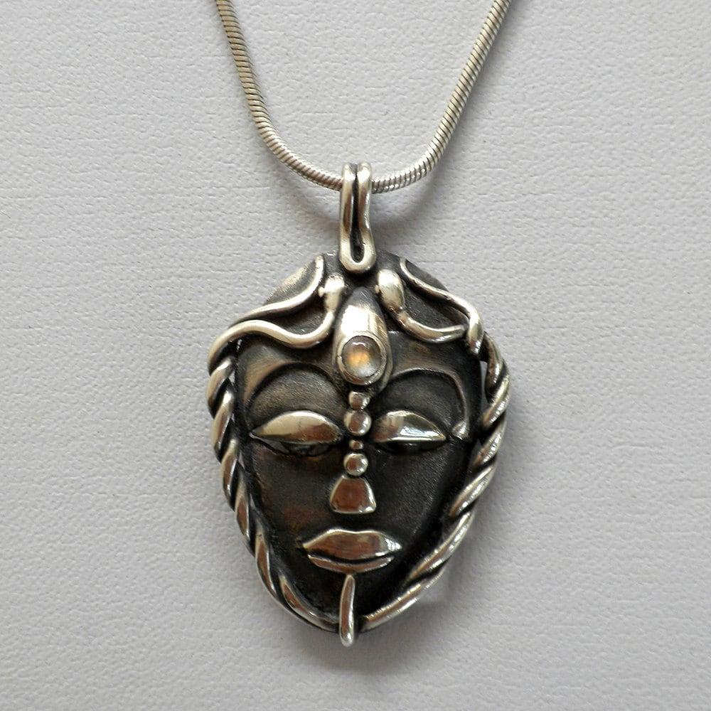 silver 9 999 labradorite pendant handmade jewelry