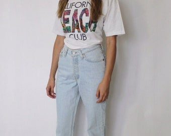 Vintage Levi's 501 Denim Jeans 24 | Levis 501 High Waist Denim Jeans | Light Blue Denim Jeans