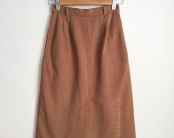 Vintage Lightweight Corduroy Midi Skirt,  Vintage Midi Skirt, 70s Midi Skirt