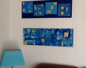 Quad Blue Gold 90cm X 30 cm