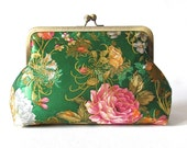 Leaf Green Clutch, Wedding Clutch, Bridal Clutch , Bridesmaid clutch, Silk clutch purse , Prom Clutch