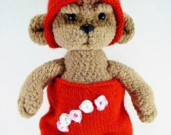 Little blankie bear in red costume