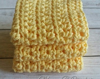 Crochet Dish Cloths, Crochet Wash Cloths, Kitchen Dish Cloths, Bath Dish Cloths