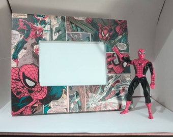 Spiderman Comic Book Picture Frame