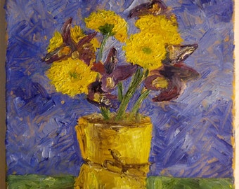 Still life with flowers, oil on canvas, 30 x 24 cm