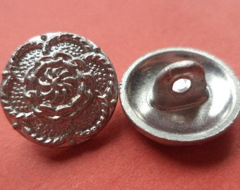 14 mm (5314) metal button buttons 15 metal buttons silver