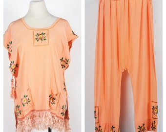 1920's/30's Silk Pajama Set