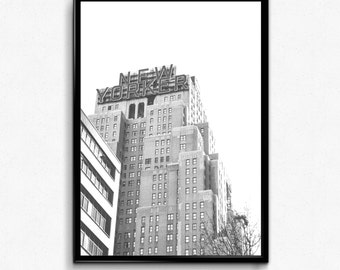New York City Print, NYC Print, Black and White Art, NYC Photo, NYC Printable, Digital Download, Printable Wall Art, Digital Print