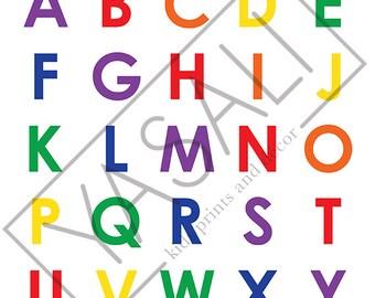 A4 Alphabet Print - Rainbow