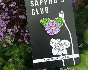 Sappho's Club Violet enamel pin badge