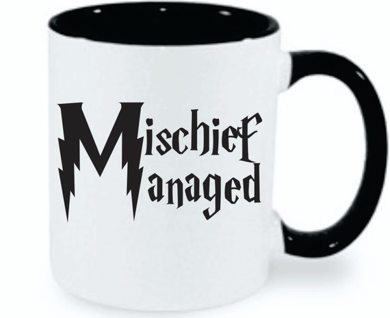 Harry Potter Mischief Managed | Harry Potter Mug | Harry Potter Inspired  | Hogwarts | Fandom | Wizard | Great Gift For Harry Potter Fans!