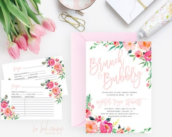 Printable Bridal Shower Invitation /  Shower Invite, Wedding Shower  - Wynter
