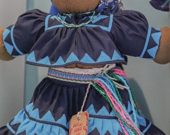 Guadalupe, rag doll dressed by Raramuri of Chihuahua