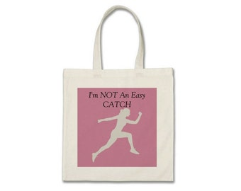 Tote Bag For Runner, Runner Tote Bag, Gift For Runner, Running Gift, 5k runner, 10K runner, Marathon Runner, Gym Bag, Not An East Catch