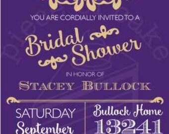 Elegant Lace Bridal Shower Invitation PDF - Custom