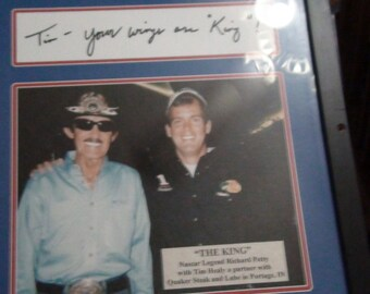 richard petty signed photo print of visit to  Quaker steak and lube