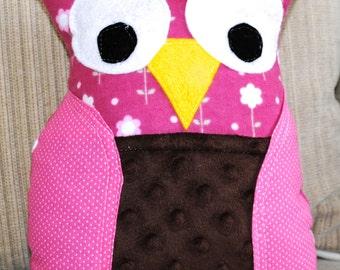 Owl Pillow, Stuffed Owl Pillow, Stuffed Owl Plushy, Decorative Pillow, Nursery Decor owls, child's room decor owl