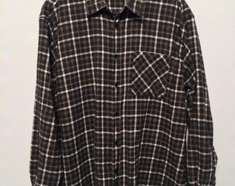 Black White Brown Checked Shirt